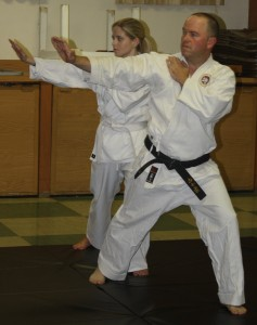 Individual self-defense techniques can be found in the movements of the kata